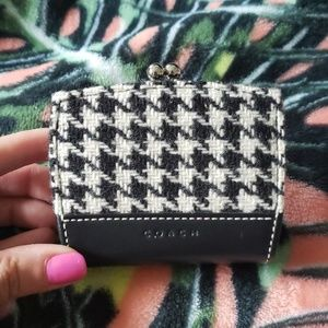 COACH Houndstooth Keylock Coin Purse